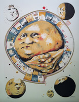Dennis Geden - Lithograph - The Man In The Moon Whistles A Tune