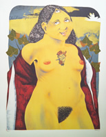 Dennis Geden - Lithograph - The Three Eyed Woman