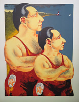 Dennis Geden - Lithograph - Father And Son Team